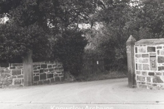 Entrance to driveway to North End House, Halewood