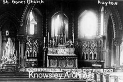 Altar, St Agnes' Roman Catholic Church, Huyton
