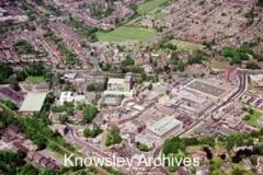 Huyton Village aerial view