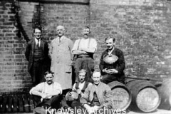 Workers at Barker's Brewery, Huyton