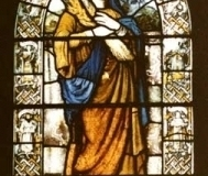 Stained-glass window, St Chad's Church, Kirkby