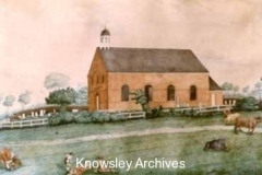 Watercolour of St Chad's Chapel, Kirkby