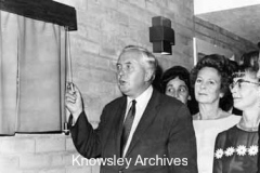 Harold Wilson opens Quarry Green building, Kirkby