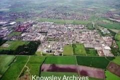 Aerial view of Kirkby Industrial Estate