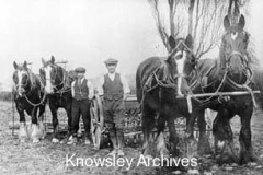 Kirkby farm workers with their horse teams