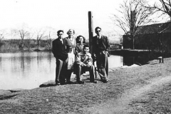 Malayan students at Mill Dam, Kirkby