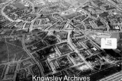 Aerial view around Broad Lane, Kirkby
