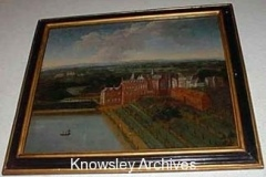 Oil painting of Knowsley Hall, Knowsley