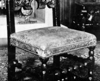 Chair on which James, 7th Earl of Derby knelt
