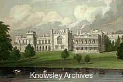 Watercolour of Knowsley Hall