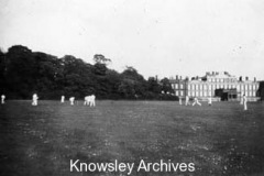 Cricket match at Knowsley Hall