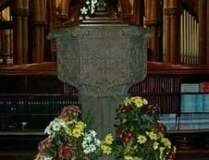 Font, St Mary's Church, Knowsley Village