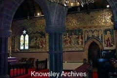 Mosaic wall, St Mary's Church, Knowsley Village