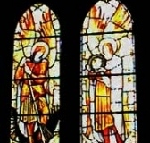Stained-glass window, St Mary's Church, Knowsley