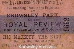 Edward VII's visit to Knowsley Park