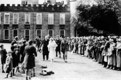 King George VI visits Knowsley Hall, Knowsley Park