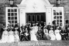 Royal Party at Knowsley Hall