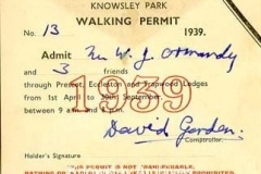 Walking Permit for Knowsley Hall Estate
