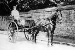 Horse and cart in Church Road, Knowsley