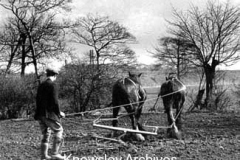 Ploughing the land, Prescot
