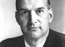 M.J.M. Brown, headmaster, Prescot Grammar School