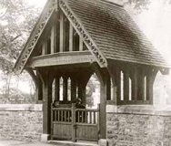 Lych-gate, St Bartholomew's Parish Church, Roby