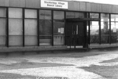 Entrance to Stockbridge Library, Stockbridge Village