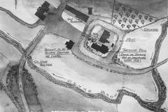 Tarbock Hall plan, 1700s