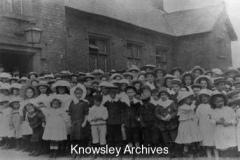 Children outside Whiston Village School